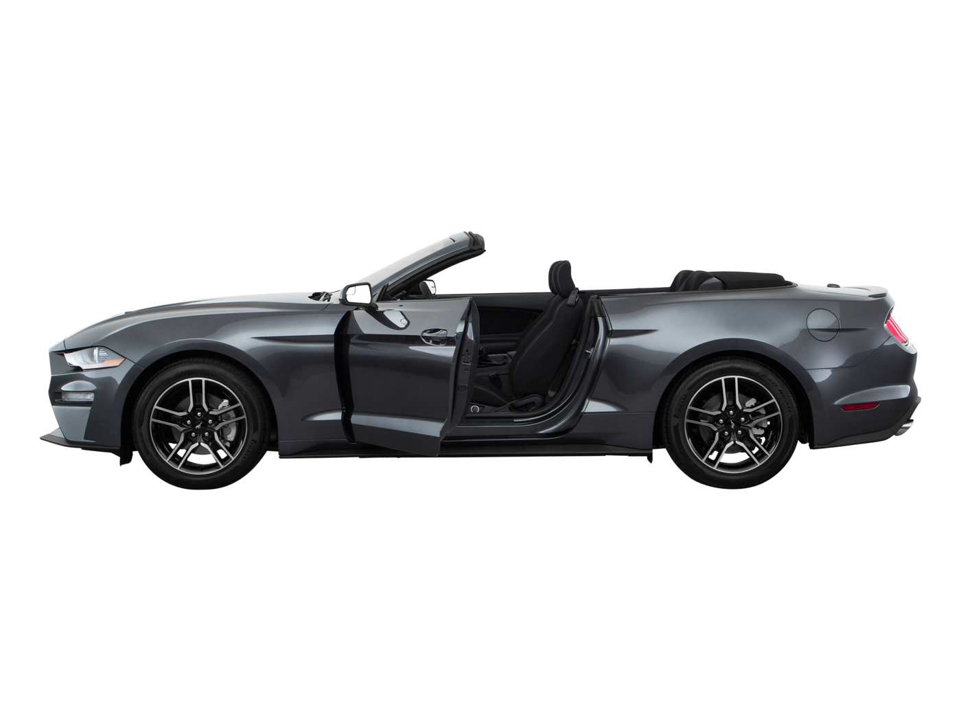 2019 Ford Mustang Ecoboost Convertible Side View