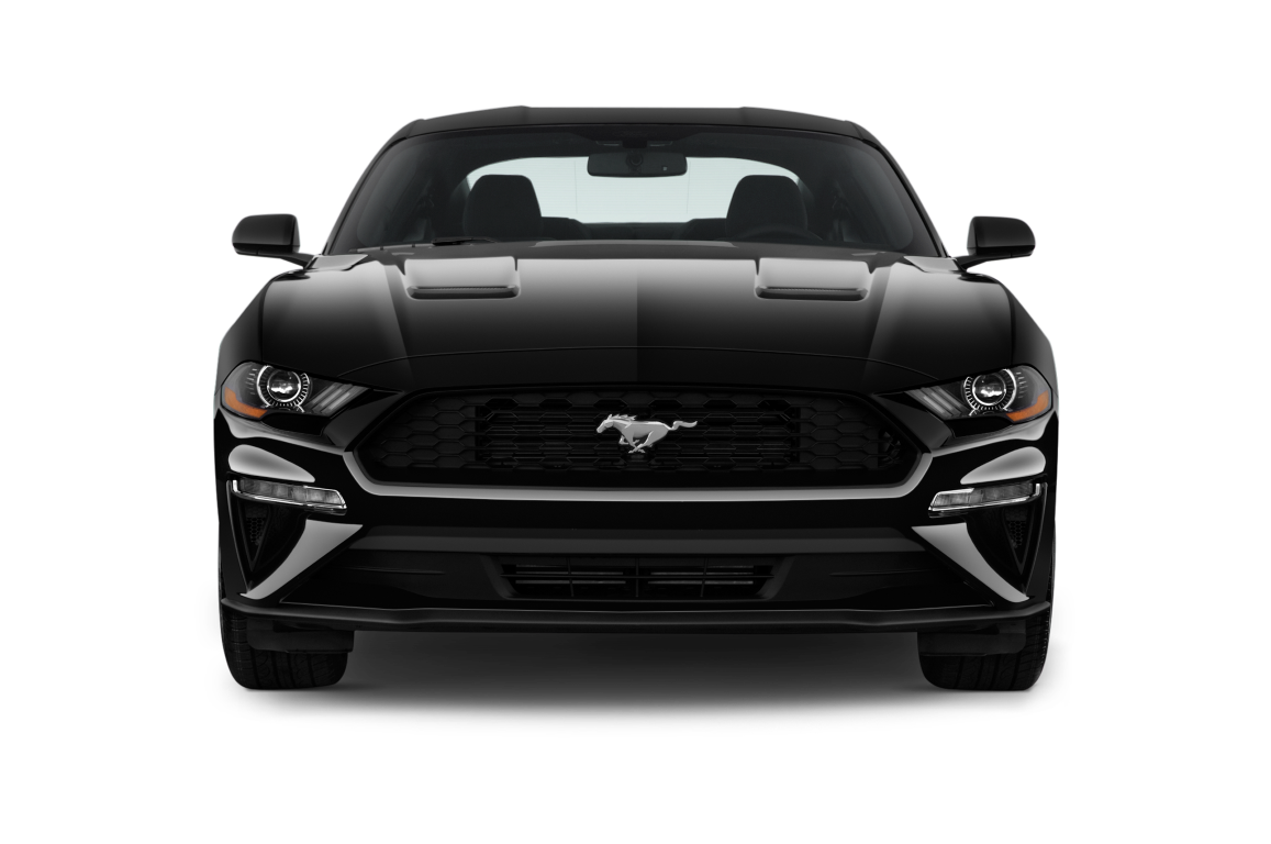 Black 2020 Ford Mustang Front View