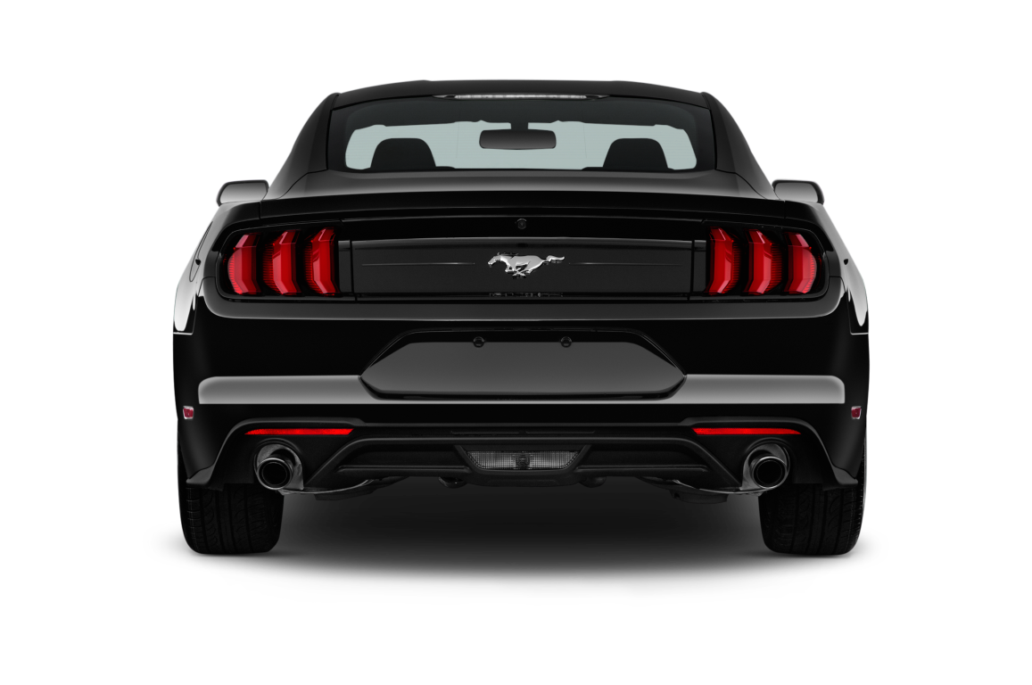 Black 2020 Ford Mustang Back