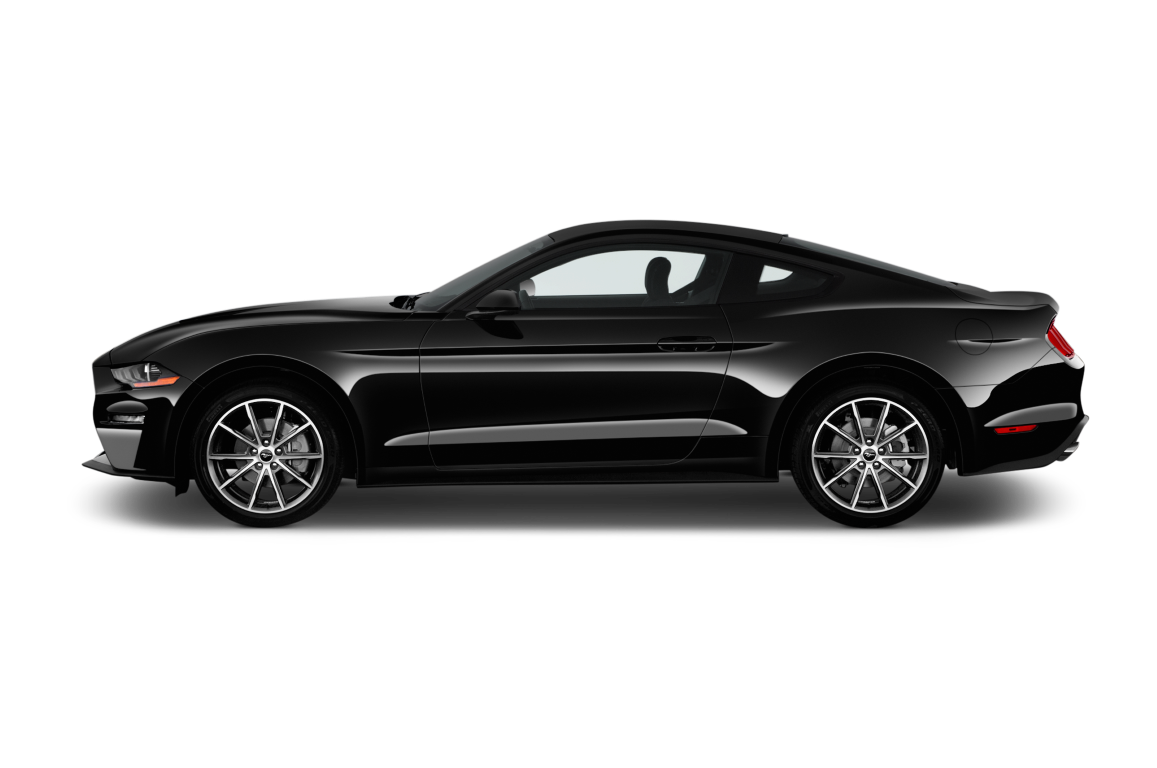 Black 2020 Ford Mustang side
