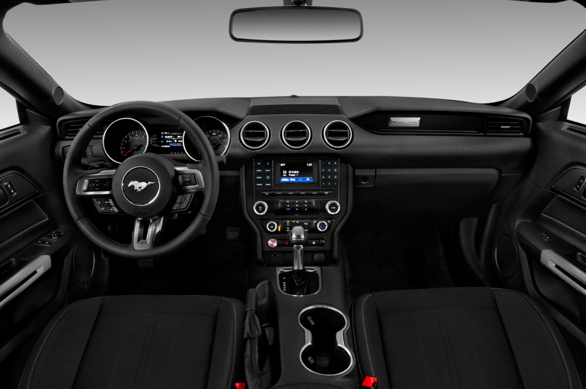 Black 2020 Ford Mustang dashboard