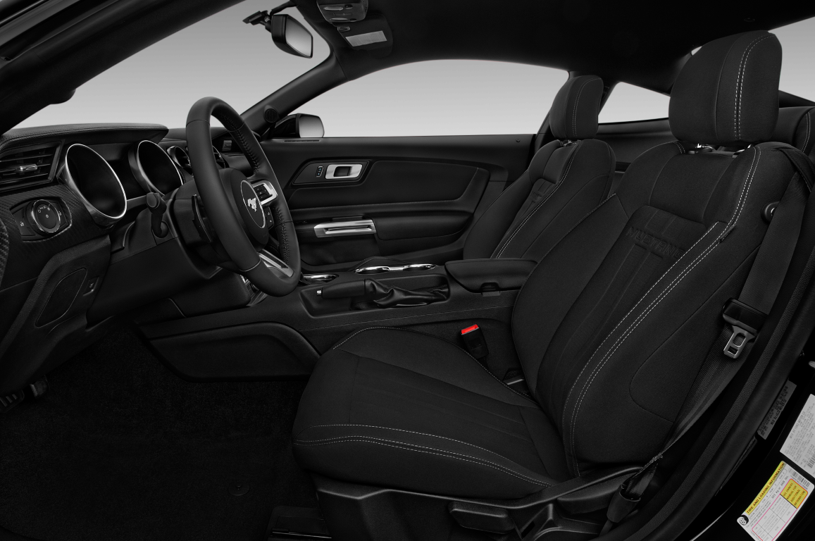 Black 2020 Ford Mustang front seats