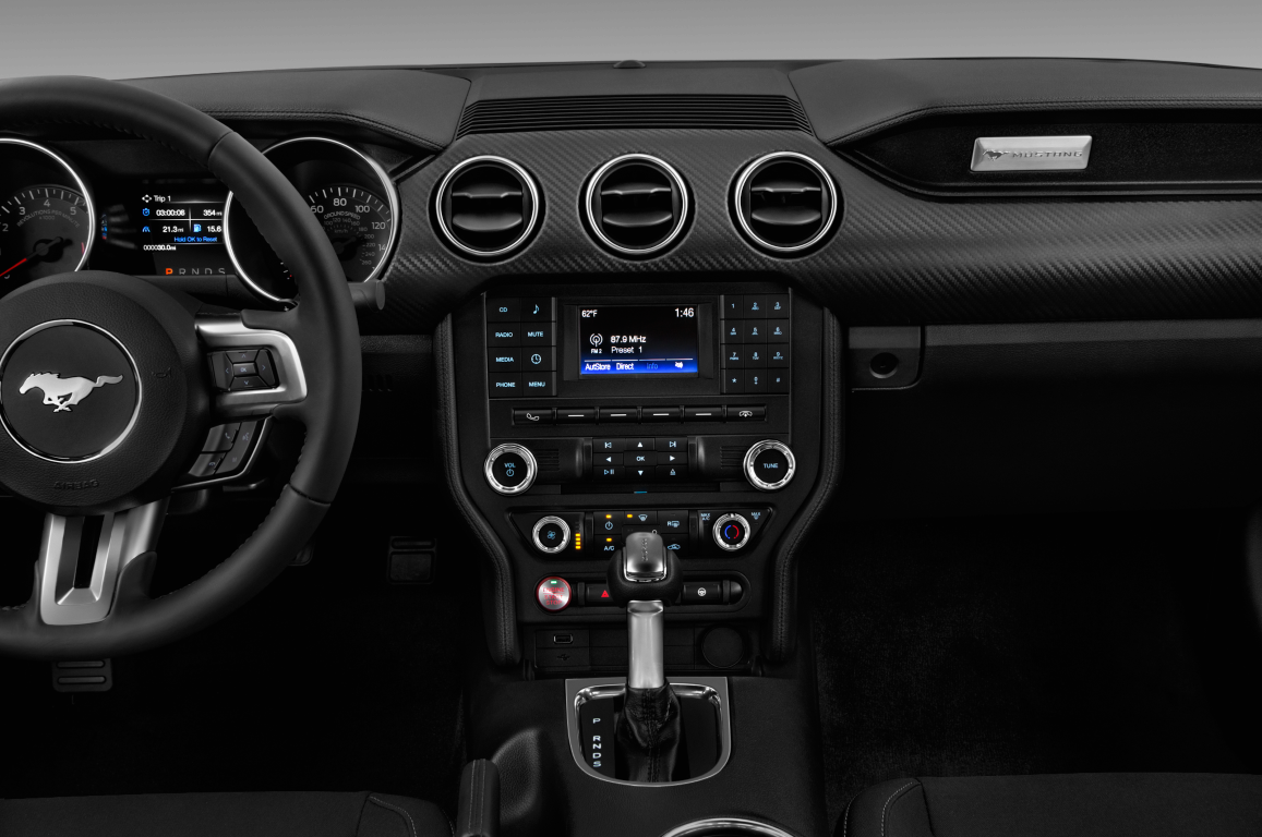 Black 2020 Ford Mustang centre console