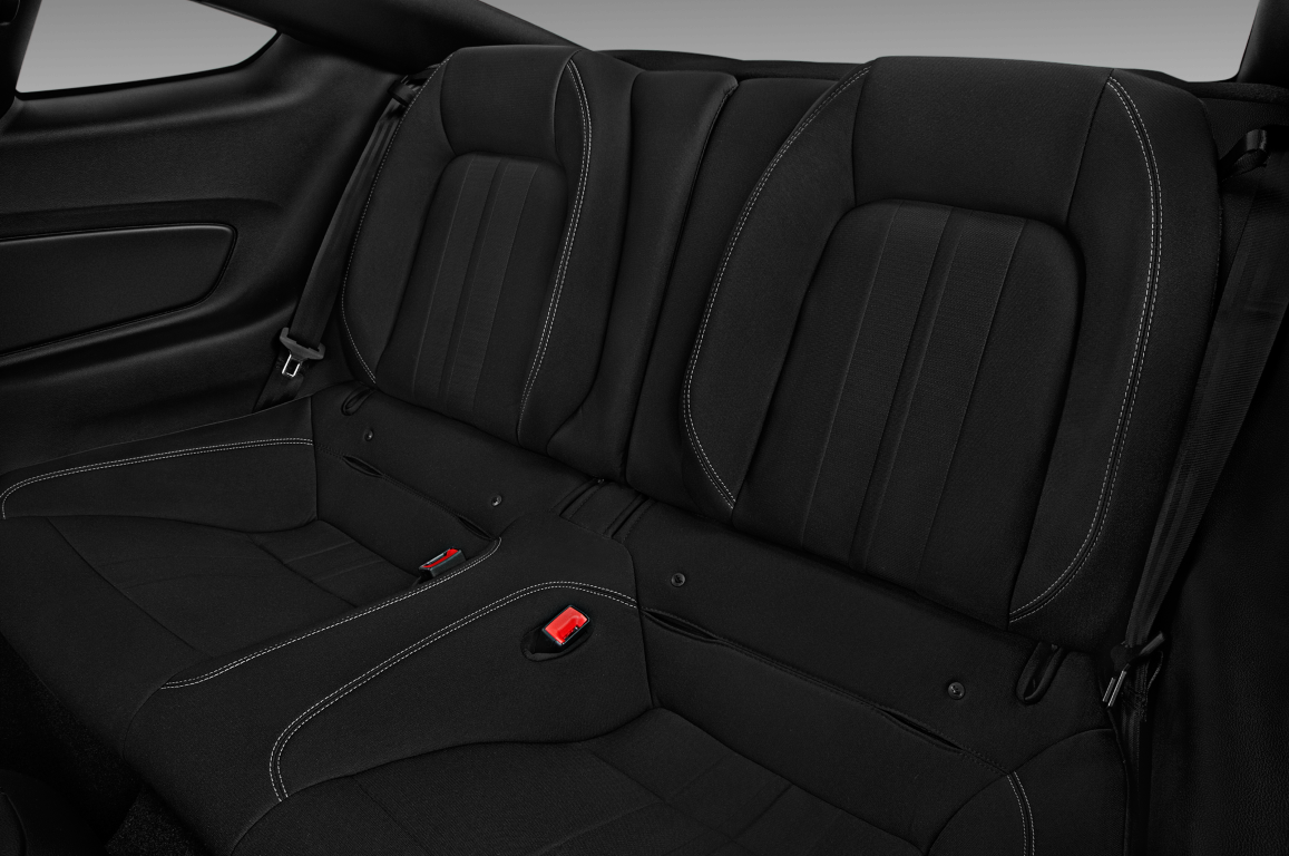Black 2020 Ford Mustang rear seats