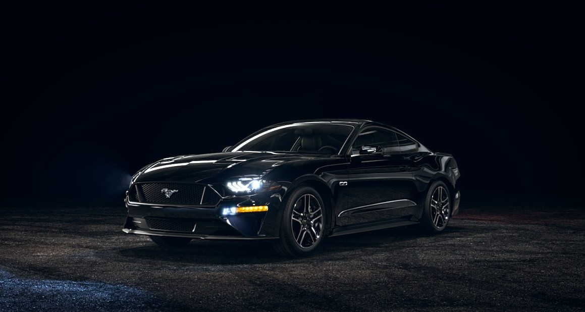 Black 2019 Mustang Front