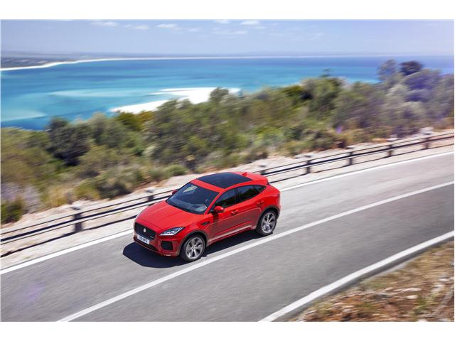 2020 Jaguar E-Pace top-quarter view