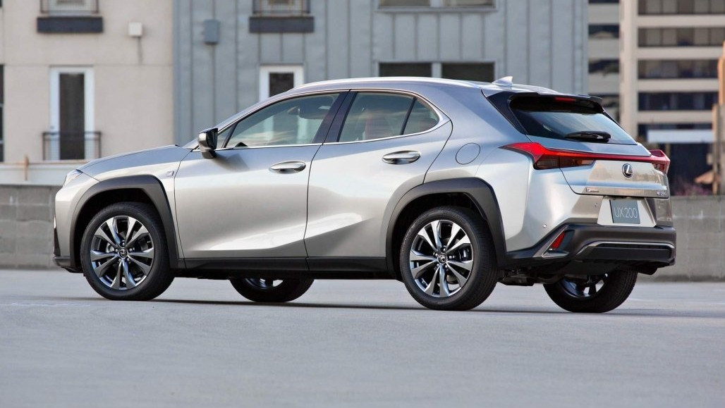 2019 Lexus UX 200 rear three-quarter view