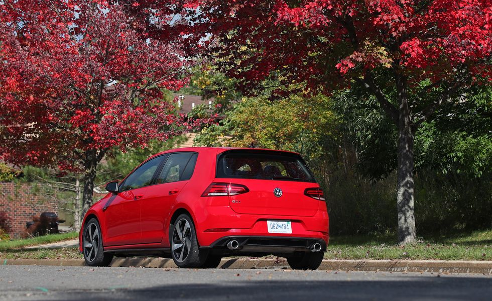 2019 volkswagen golf gti rear view