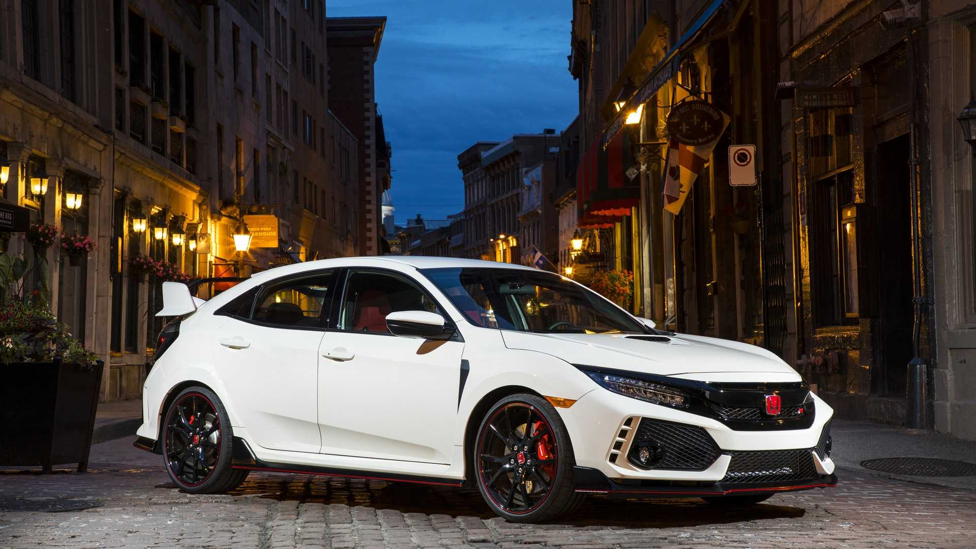 white honda civic type r 2019