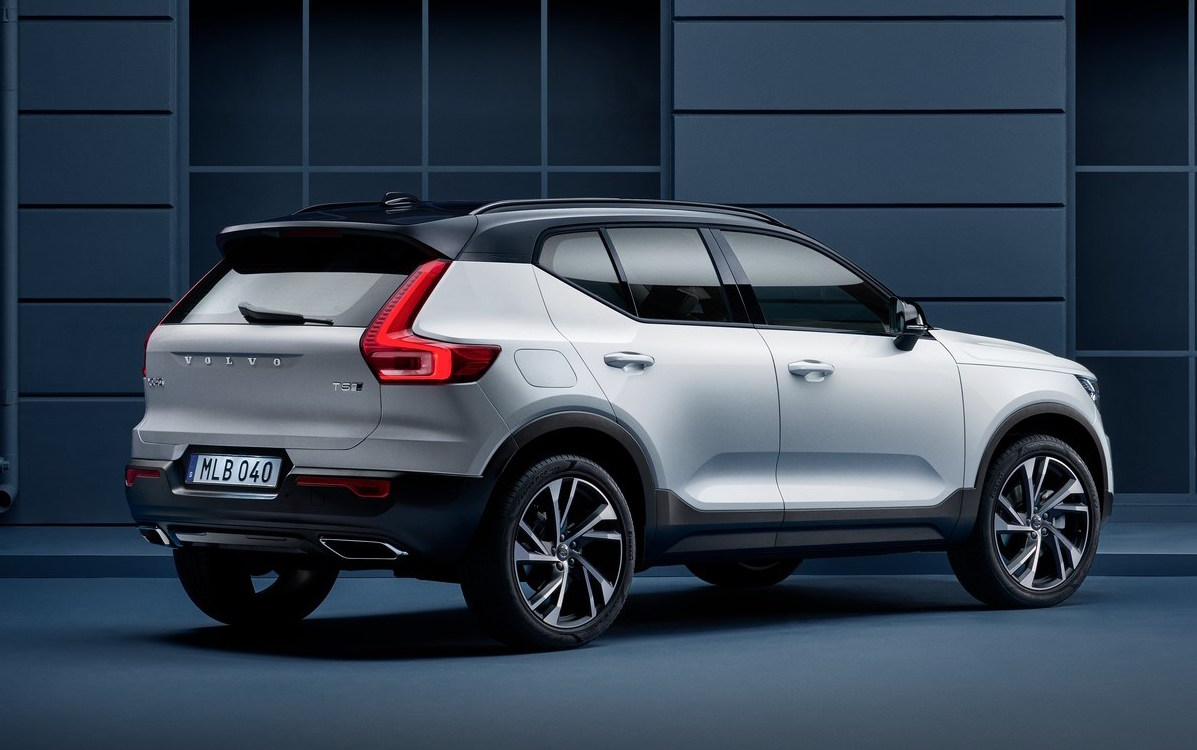 2020 xc40 volvo white color rear